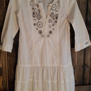 Drop Waist Shirt Dress.
